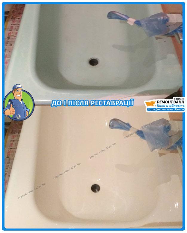 Рестарация чугунной ванны Киев - наливная ванна
