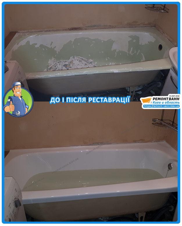 Ремонт эмали ванны Киев - методом налива